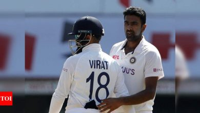 2nd Test: R Ashwin surpasses Harbhajan Singh for Test wickets in India, now only behind Anil Kumble   Cricket News - Times of India