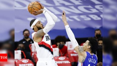 Anthony scores 22 as depleted Trail Blazers upset first-place Sixers | More sports News - Times of India