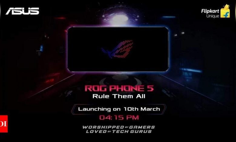 Asus ROG Phone 5 to launch in India on March 10 - Times of India