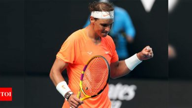 Australian Open: Nadal outplays Fognini to set up quarterfinal meeting with Tsitsipas | Tennis News - Times of India