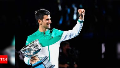 Australian Open: Novak Djokovic continues love affair with Rod Laver Arena   Tennis News - Times of India