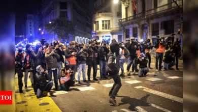 Barcelona sees sixth night of protests for jailed rapper - Times of India