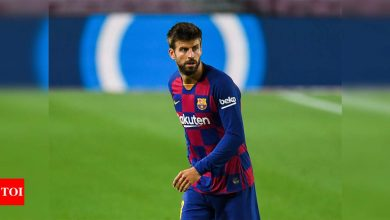 Barcelona's Pique investigated for remarks on referees favouring Real Madrid   Football News - Times of India