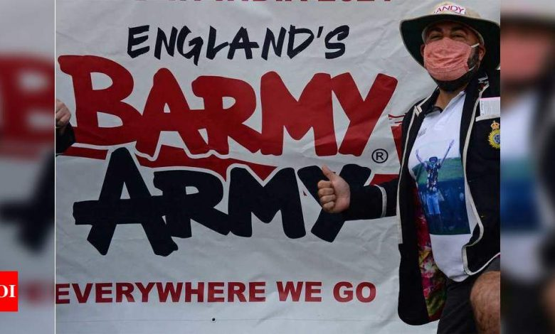 Barmy Army:  India vs England: Inspired by die-hard fan, Barmy Army musters half a dozen in Chennai | Cricket News - Times of India