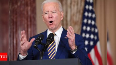 Biden says US won't lift sanctions to bring Iran to talks - Times of India