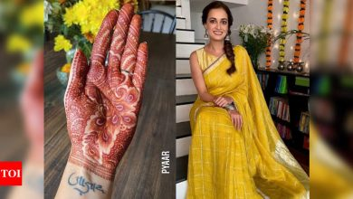Bride-to-be Dia Mirza gives a glimpse of her stunning mehendi ahead of her wedding with Vaibhav Rekhi - Times of India