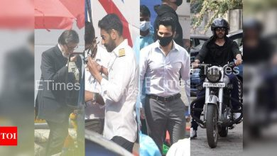 ETimes Paparazzi Diaries: Amitabh Bachchan, Varun Dhawan, Ajay Devgn spotted shooting, Kartik Aaryan takes his bike out for a spin again - Times of India