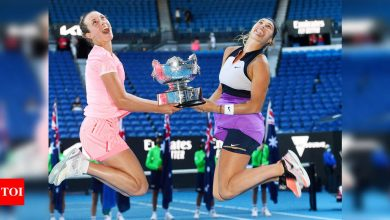 Elise Mertens, Aryna Sabalenka clinch Australian Open women's doubles title | Tennis News - Times of India