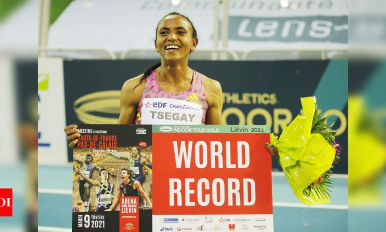 Ethiopia's Gudaf Tsegay breaks women's 1500m indoor world record | More sports News - Times of India