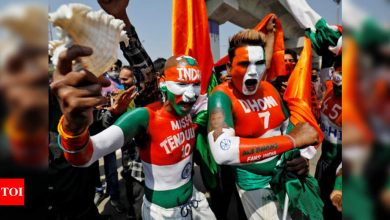 Excited Indian fans stream into world's biggest cricket stadium | Cricket News - Times of India