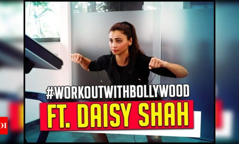 Exclusive! Watch: Daisy Shah explains the science behind EMS workout that keeps her toned - Times of India