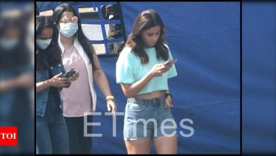 Exclusive photos: Alia Bhatt keeps it casual in denim shorts and a crop top for a shoot - Times of India