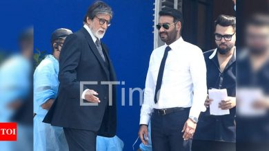 Exclusive photos: Amitabh Bachchan, Ajay Devgn's first look from 'Mayday' revealed! - Times of India
