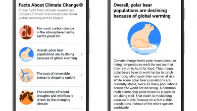 Facebook will add a new label to some climate change posts in the UK