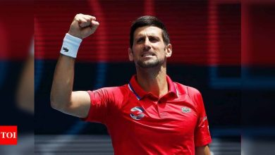 Fired-up Novak Djokovic makes perfect start but Dominic Thiem slumps in ATP Cup | Tennis News - Times of India
