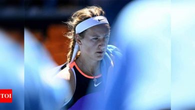 Former champion Victoria Azarenka upset by Jessica Pegula in first round of Australian Open | Tennis News - Times of India