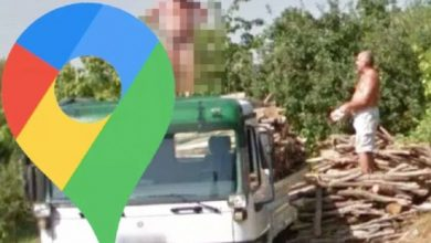 Google Maps Street View: Man makes brazen stand posing nude on top of truck