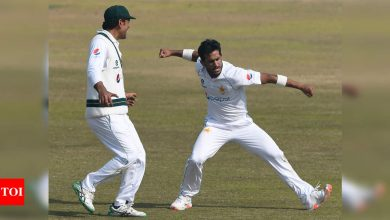 Hasan Ali takes 10 wickets as Pakistan sweep Test series vs South Africa | Cricket News - Times of India