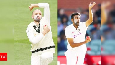 India vs England: Australia spinner Nathan Lyon joins R Ashwin in solidarity over Ahmedabad track | Cricket News - Times of India