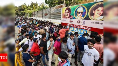India vs England: Crowds throng Chepauk for tickets, ignore social distancing norms | Cricket News - Times of India