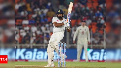 India vs England, Day/Night Test: Axar Patel, Rohit Sharma put India on top against England | Cricket News - Times of India