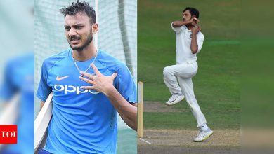 India vs England: Fit Axar back in nets, Nadeem set to be dropped for 2nd Test; pitch might offer more turn | Cricket News - Times of India