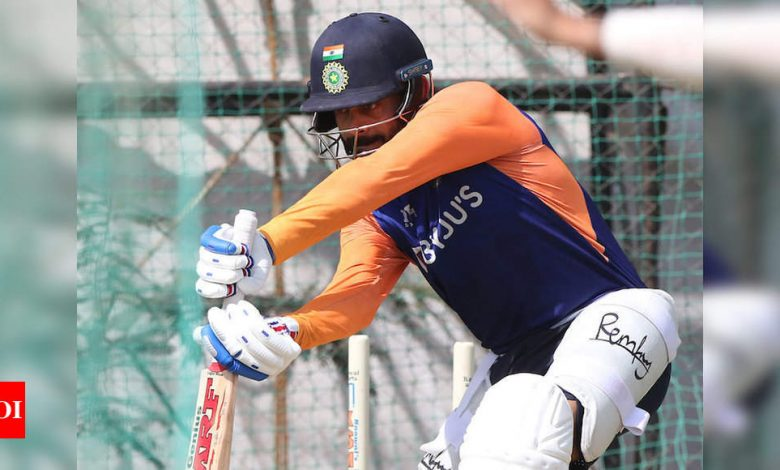 India vs England: Hosts sweat it out in the nets ahead of fourth Test | Cricket News - Times of India