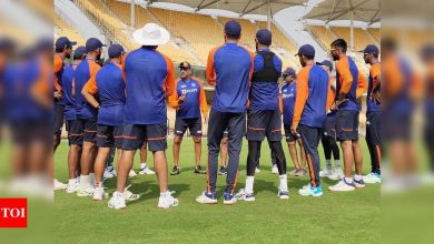 Indian cricketers begin nets session, Ravi Shastri welcomes squad with rousing address | Cricket News - Times of India