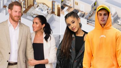 Inside the celebrity bedrooms of Meghan and Harry, Ariana Grande, more