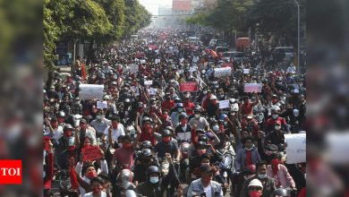 Internet access restored as Myanmar coup protests grow - Times of India