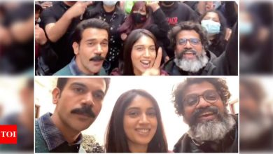 It's a schedule wrap for 'Badhaai Do'! Rajkummar Rao and Bhumi Pednekar's #pawrihorahihai video from the sets is a warm hug to fans - Times of India