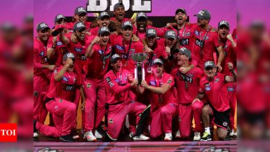 James Vince shines as Sydney Sixers win their third Big Bash League title | Cricket News - Times of India