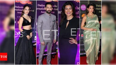 Kiara Advani, Sushmita Sen, Vikrant Massey, Nora Fatehi and other celebs arrive at the red carpet event of Dadasaheb Phalke International Film Festival Awards - Times of India
