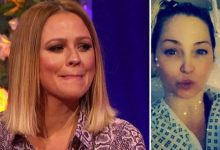 Kimberley Walsh says she feels 'completely helpless' as pal Sarah Harding battles cancer