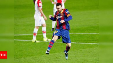 Lethal Lionel Messi leads Barcelona to thumping Alaves win   Football News - Times of India