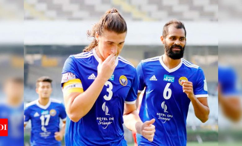Mason Robertson's brace takes Real Kashmir to top of I-League table   Football News - Times of India