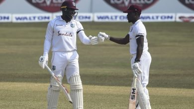 Mayers-Bonner century stand keeps West Indies in the hunt