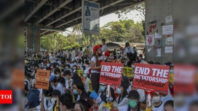 More Myanmar protests follow strike, foreign concerns - Times of India