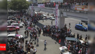 Myanmar anti-coup protests resume despite bloodshed - Times of India
