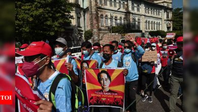 Myanmar coup opponents call for new show of force - Times of India