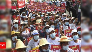 Myanmar protest call for general strike draws junta threat - Times of India