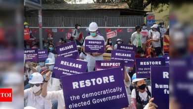 Myanmar protesters gather again after worst day of violence - Times of India
