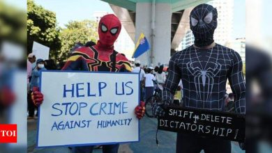 Myanmar's 'Spiderman' joins anti-coup protests - Times of India