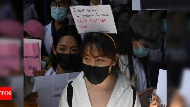 Myanmar's protesters back on the streets as US sanctions coup leaders - Times of India