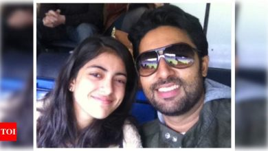 "Navya Naveli Nanda wishes her ""best friend"" and ""partner in crime"" Abhishek Bachchan on his birthday: You may just be my favourite family member - Times of India"
