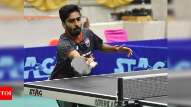 Paddler Sathiyan breaks the jinx, crowned national champion | More sports News - Times of India