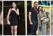 Photos: Alaya F snapped in the city with rumoured boyfriend Aishvary Thackeray and his mother Smita - Times of India