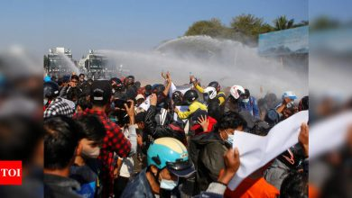 Police in Myanmar capital fire gunshots into air to disperse protesters: Witnesses - Times of India