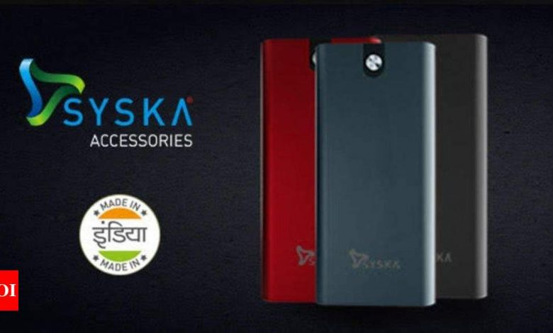 Power Bank:  Syska Accessories launches 20,000mAh P2024J power bank, priced at Rs 2,499 - Times of India