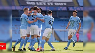 Premier League: Man City make it 20 straight wins with victory over West Ham   Football News - Times of India
